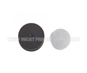 Cij printer spare parts black caps with Gaskets for ink