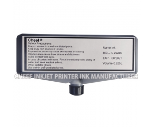 Industrial coding ink  IC-252BK fast dry inkjet ink ink black for Domino