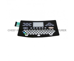 Inkjet printer spare parts A series large screen English Keyboard cover film 36676 for Domino inkjet printer