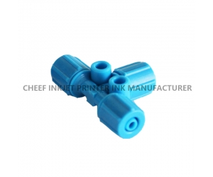 Inkjet printer spare parts CONNECTOR TUBE TEE FESTO 4mm ID DB14170  for Domino inkjet printer