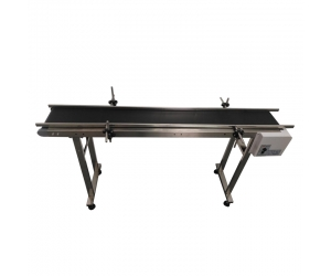 Standard conveyor for industrial printer have rails for two sides