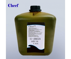 Universal black quick-drying IC-2BK124 moisture resistant ink for domino small character Inkjet Coding Printer