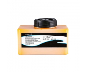 Universal fast dry printing ink IR-299YL on metal for domino printer