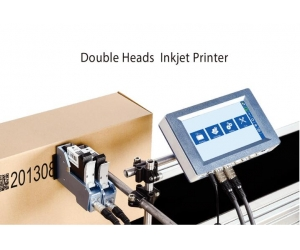 Variable two-dimensional code  double head printer