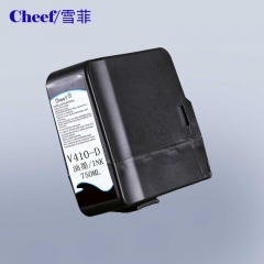 China Compatible black videojet ink V410 D for Videojet CIJ inkjet code printer factory