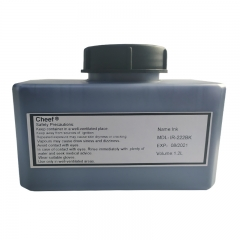 China Fast drying ink high adhesion IR-222BK printing ink on glass for Domino factory
