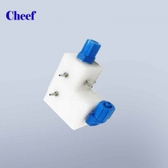 China LB13416 L type manifold assy for Linx cij inkjet coding printer factory