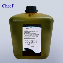 Tsina Universal black quick-drying IC-2BK124 moisture resistant ink for domino small character Inkjet Coding Printer factory