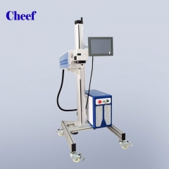 China commercial high quality expiry date laser marking machine used for medicine box printing factory